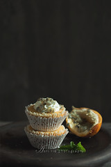 passion fruit cupcakes (asri.) Tags: 2017 darkbackdrop baking homemade foodstyling foodphotography 85mmf14