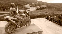 The Joey Dunlop Statue, King of the Mountain, Isle of Man - 2008 (Grumpy Eye) Tags: joey dunlop nikon d40 isle man iom statue tt