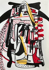 Jim Harris: Druckanzug. (Jim Harris: Artist.) Tags: collage art arte drawing druckanzug pressure suit technology dessin zeichnung zeitgenössische contemporary rysunek