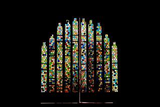 Porte vitraux Gaudi
