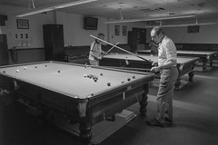 Snooker room (garyjones1959) Tags: leica leicasl summilux 28mm wide snooker pubs bar games sedgley westmidlands billiards cue men manly