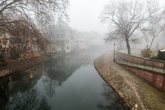 Hexagon 058 (Cycle the Ghost Round) Tags: strasbourg france petite river europe old architecture traditional town french european historic medieval picturesque timbered alsace water house reflection tourist colorful german building city tourism scene famous downtown central touristic beautiful halftimbered winter visit vacation voyage travel dawn fog thick haze hazy