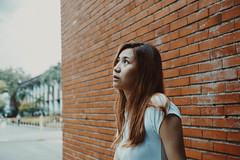 IMG_2880 (Niko Cezar) Tags: up diliman portrait nature school asian girl campus street manila philippines university white sunflower flowers