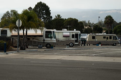2017-197   Motorhomes of Whittier Fire Evacuees Parked at San Marcos High School