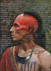The Algonkian Mosaico (by zurera) Tags: digital hd art collage retratos portraid zurera people fotomontaje image autoretratos mosaic