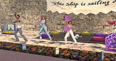 RFL 2017 - PJ's!  and Pom poms :-) (Osiris LeShelle) Tags: secondlife second life avilion rfl sl relay for quest cure track pom poms dancing cheering staying awake pjs