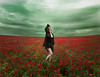 Killing me softly (Jesus Solana Poegraphy) Tags: poegraphy fineartphotography flowers poppies sky storm beauty woman sensuality red green blonde clouds field outdoor