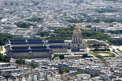 Les Invalides viewed from the Eiffel Tower (Muddy LaBoue) Tags: iledefrance monuments towers iconicarchitecture 1889 2017 july worldexposition eiffeltower paris france attractions tourism panasoniclumixdmctz60 summer
