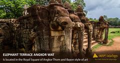 Terrace of the Elephants (Angkorwatholidays) Tags: angkorthom angkorwat elephantterraceangkorwat cambodia angkor sramholidays