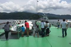Lake Nojiri - 野尻湖 (hidesax) Tags: lakenojiri 野尻湖 海の日 holiday tourists boat cruise island nagano japan hidesax apple iphone 6 plus