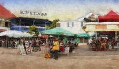 Blue Bitch Bar - St Maartens (Mike Cordey) Tags: saint maarten meomyo caribbean