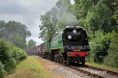 3rd July 2017. 34081 '92 Squadron' at the MHR (Dangerous44) Tags: mid hants railway watercress line steam engine locomotive 34081 92 squadron goods battle britain bulleid