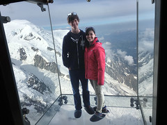 Alps Trip 1112m (mary2678) Tags: aiguille du midi chamonix france europe honeymoon mont blanc french alps mountain mountains sky cloud clouds snow view peak stepintothevoid step void glass box rick steves myway way alpine tour