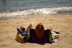 Cannes, c'est aussi la plage (Steph Blin) Tags: rousse girl woman beach plage cannes france summer été 06 côtedazur mer sea méditerranée sable sand redhaired bronzage farniente tanning bronzette soleil sun sunbathing