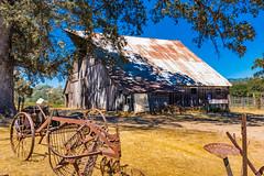 DSCF5464.jpg (RHMImages) Tags: nevadacounty fuji landscape rural fujifilm x100f rusted tree rusting farmequipment barn rust farm grassvalley