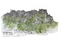 Edimbourg (gerard michel) Tags: scotland edinburgh castelrock sketch croquis architecture aquarelle watercolour château