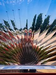 Split Personality (Little Hand Images) Tags: splitpersonality sunburst nophotoshop selfie metal mirrored mirroreffect