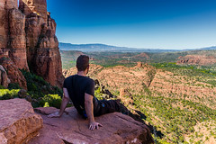Worth It (Amazing Aperture Photography) Tags: landscape sedona arizona hike view redrocks man pensive beautiful adventure horizon sonya6000 fun explore
