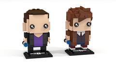 Doctor who - 9th & 10th Doctor Brickheadz (pklego2120) Tags: lego doctor who 10th tennant 9th eccleston brickheadz povray