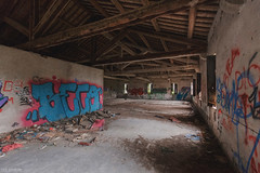 """Attic"" (Luca Bortolami) Tags: destroy abandoned isolation alone graffiti walls wall light wood"