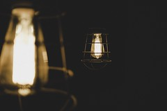 Rustic touch (ChrispyPhotos) Tags: design interior wire oldtimes antique rustic bulb light abstract