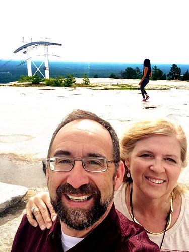 On top of Stone Mountain, Georgia