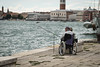 Fishing (neilbruder) Tags: italy venice europe2017 fishing wheelchair rivadeglischiavoni