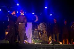 En la imagen se puede ver un momento de la actuación de la txaranga Gogaikarriak titulado 'Banda sonora Metal'