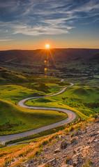 Mam Tor Sunset (mikedenton19) Tags: sunset peakdistrict nationalpark derbyshire castleton mamtor mam tor road hills sun landscape