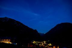 Filisur night: Some warm lights (1/2) (jaeschol) Tags: europa filisur graubuenden grischuna kantongraubünden kontinent regionalbula schweiz suisse switzerland graubünden ch