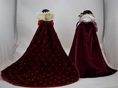 Original Limited Edition Snow White Doll vs D23 Snow White Doll - Standing Side By Side - Full Rear View (drj1828) Tags: d23 2017 expo purchases merchandise limitededition artofsnowwhite snowwhiteandthesevendwarfs snowwhite princess deboxed le1023 2009 17inch sidebyside standing comparison