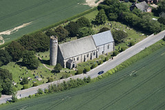 St Mary The Virgin Church in Blundeston - Suffolk aerial view (John D F) Tags: blundeston aerial church suffolk roundtower aerialphotography aerialimage aerialphotograph aerialview aerialimagesuk hires highdefinition hirez highresolution hidef britainfromtheair britainfromabove viewfromplane d810
