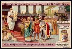 Liebig Tradecard S1021 - Roman King (cigcardpix) Tags: tradecards advertising ephemera vintage chromo liebig roman