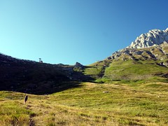 Approaching La Madonnina from Prati di Tivo (markhorrell) Tags: cornopiccolo cornogrande gransasso apennines abruzzo italy hiking hillwalking scrambling