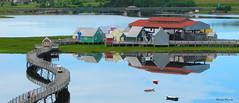 Pays de la Sagouine (1-4) (deplour) Tags: paysdelasagouine îleauxpuces baie bouctouche bay passerelle boardwalk reflets reflections