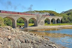 Ardnambuth Viaduct (whosoever2) Tags: jacobite stranier black5 steam locomotive viaduct ardnambuth scotland highland unitedkingdom uk gb greatbritain nikon d7100 july 2017 railway railroad train
