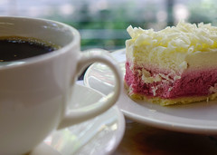 Dessert and black coffee (phuong.sg@gmail.com) Tags: asia asian bakery berry biscuit black bokeh breakfast cafe caffeine cake citrus coffee cookie cream crust culture cup currant custard dessert drink eating food fruit garden healthy hot lunch mocha morning pastry plate raspberry refreshment restaurant saucer singapore spoon still sugar sunny sweet tart thailand white