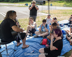 Harmonica Lesson with Mike Peters of The Alarm (aka Buddy) Tags: 2017 summer warped tour lifeinthepit2017 holmdel nj og