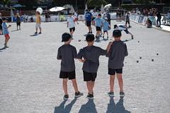 Three Young Bowlers (sebastienvillain) Tags: corsica corse fuji fujifilm fujifeed xseries xe2 kid kids enfant enfants gamin gamins bowl boule boules bowling ajaccio xf35mm streetphotography streetphoto