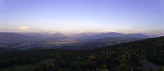 Mont Saleve Sunset (Capchure.ch) Tags: sunset geneva clouds sky mountains valley france panoramic panorama panoramicview chamonix mont blanc