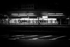 Motomachi sta. (gol-G) Tags: fujifilm xt20 fujifilmxt20 fujinon xf 23mm f14 xf23mmf14r digital bw japan kobe train jr motomachi sta