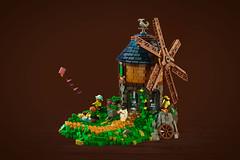 Ról's Windmill (roΙΙi) Tags: windmill castle lego medieval landscape neunreiche ninekingdoms mill