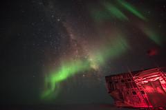 Milky Way at South Pole (redfurwolf) Tags: southpole antarctica auroraaustralis aurora southpolestation milkyway stars sky night nightsky nightphotography outdoor nature ngc snow building architecture redfurwolf sonyalpha sony a7r