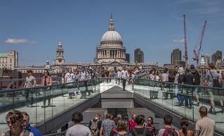 Millenium Bridge view to St Pauls Cathedral