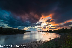 Storm Brewing 3-Explored (George O Mahony) Tags: sunset river suir sky water leefilters explored