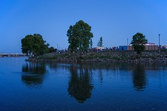 July 4 #15: About to Pack it Up (brev99) Tags: tamron35f18vc d610 lowlight latelight tulsa arkansasriver reflections perfecteffects17 ononesoftware on1photoraw2017 bluehour