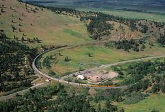 Ski Train over Coal Creek (Moffat Road) Tags: riograndeskitrain coalcreekcanyon tunnel1 passengertrain emd f40ph 242 skitrain plain plainview colorado train railroad curve highway72 upmoffattunnelsub co