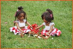 Die Minis ... (Kindergartenkinder) Tags: seppenrade rosengarten blumen kindergartenkinder garten blume park frühling annette himstedt dolls personen leleti