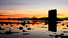 Castle Stalker (andrewmckie) Tags: castlestalker lochlaich lochlinnhe argyle appin scottishcastles scottishscenery scotland scottish scenery sunset silhouette reflections