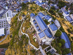 From Above (karolklaczynski) Tags: swiss switzerland suisse valais sion pennine alps castle church basilique valere hill city drone dji mavic mavicpro above fromabove aerial basilica chateau birdeye architecture building